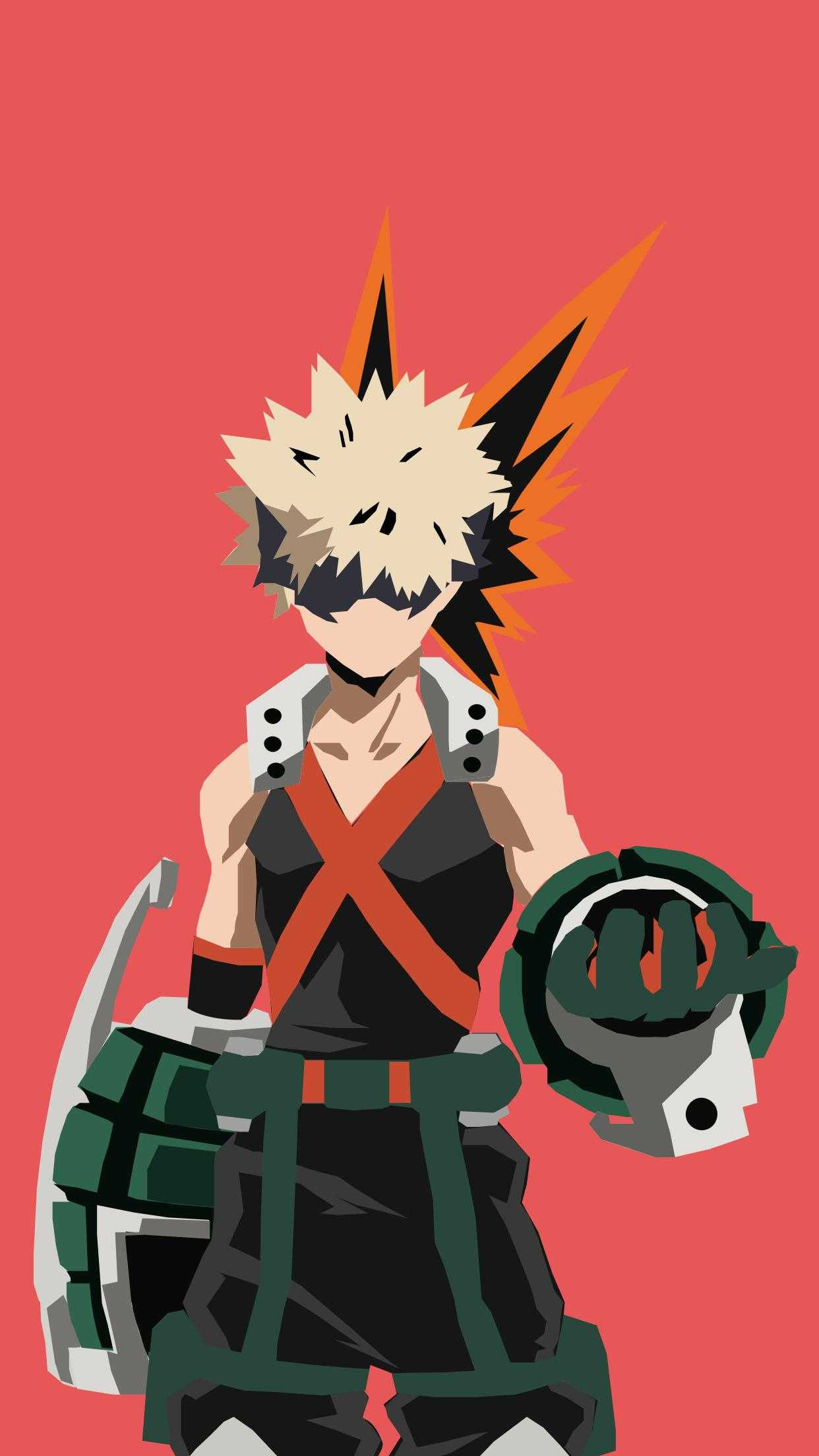 Bakugou Phone Wallpaper