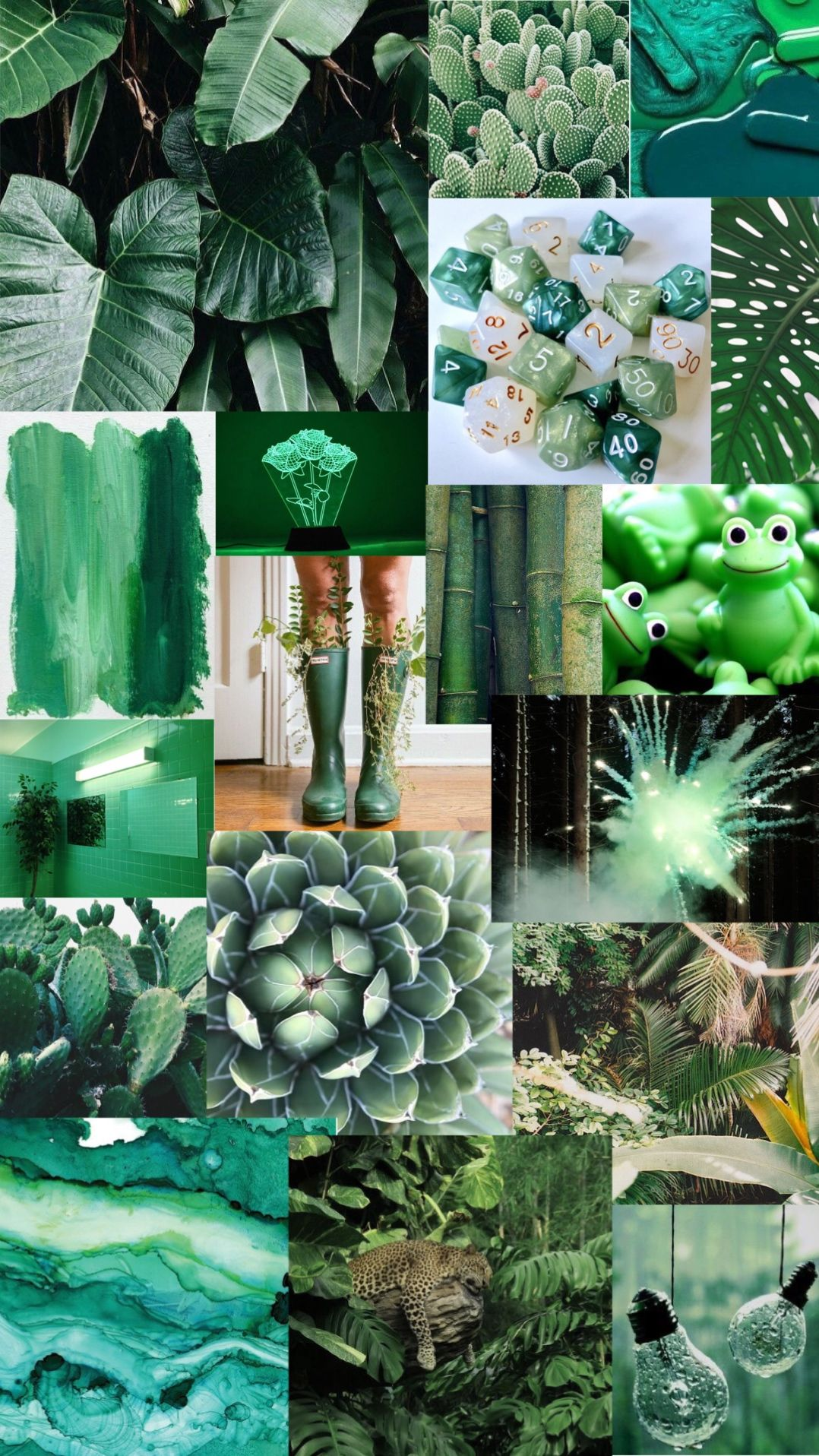 Green Aesthetic Background Hintergrundbild