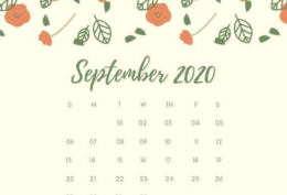 September 2020 Calendar Desktop Hintergrundbild