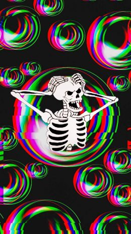 Spooky Scary Skeletons Wallpaper